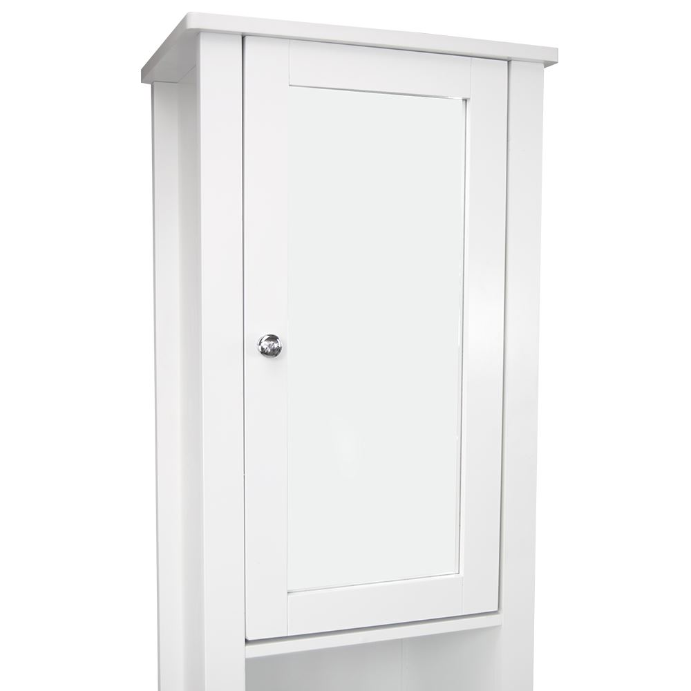 Milano tall bathroom cabinet mirrored door cupboard - Bathroom storage mirrored cabinet ...