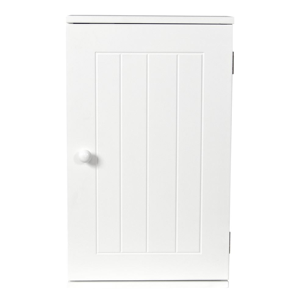Priano Bathroom White Wall Mounted Cabinet Wooden Single Door Storage Unit Ebay