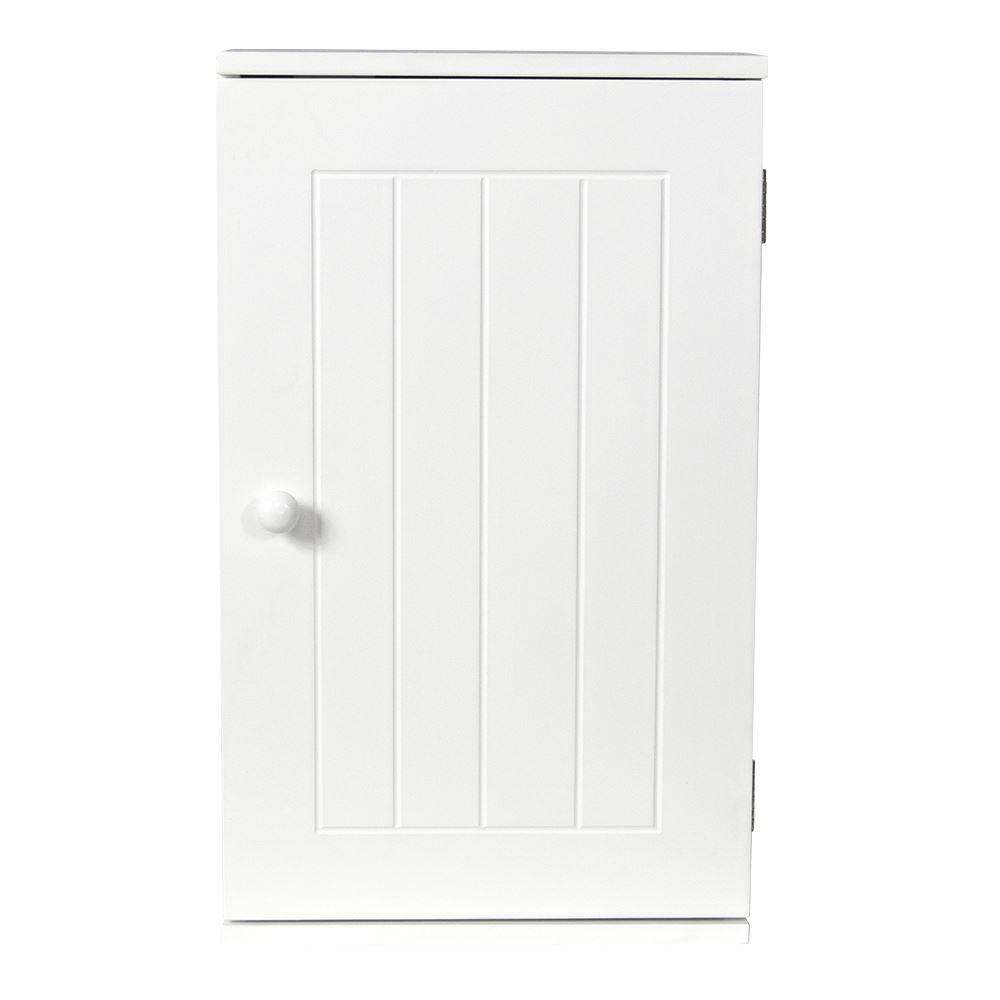priano bathroom white wall mounted cabinet wooden single door storage unit ebay. Black Bedroom Furniture Sets. Home Design Ideas