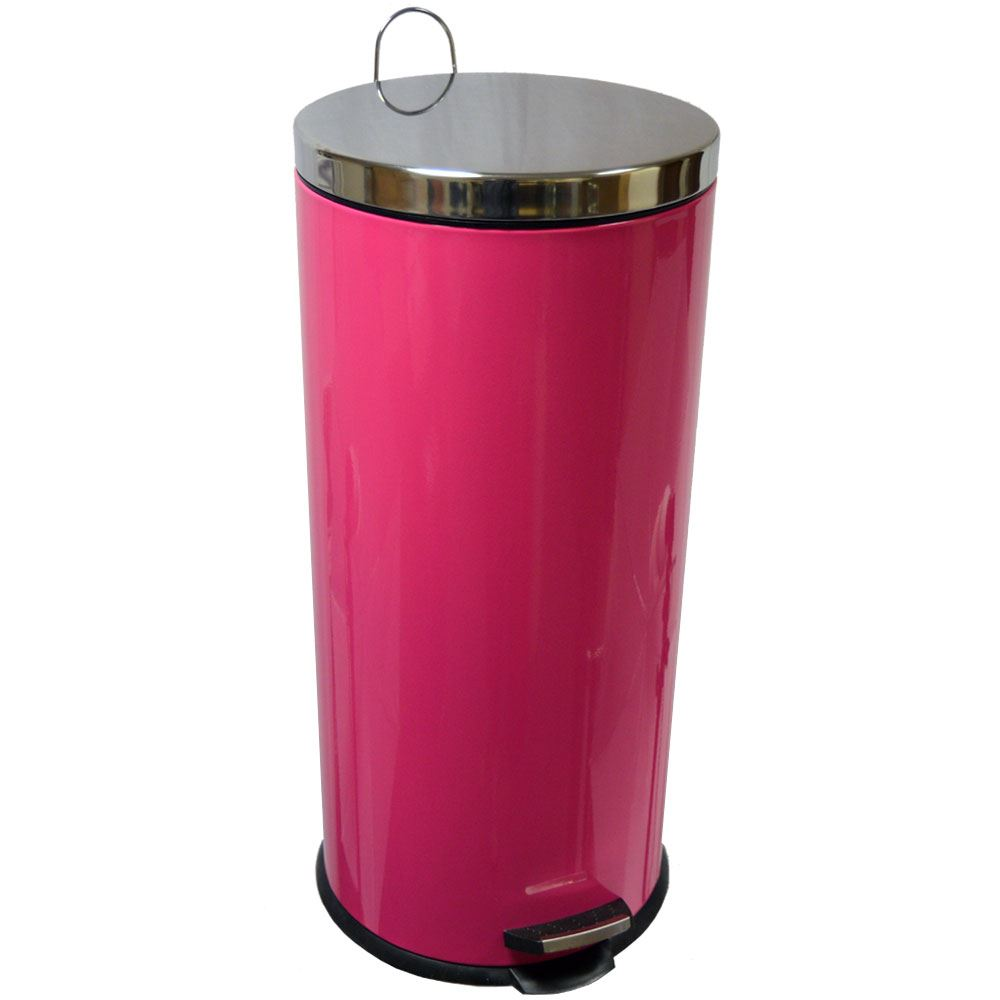 30 Litre Pedal Bin Waste Rubbish Kitchen Office Stainless