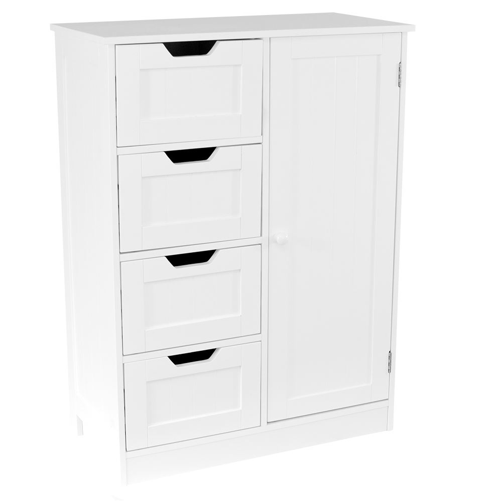 priano free standing unit 4 drawer 1 door bathroom cabinet cupboard bath storage ebay. Black Bedroom Furniture Sets. Home Design Ideas