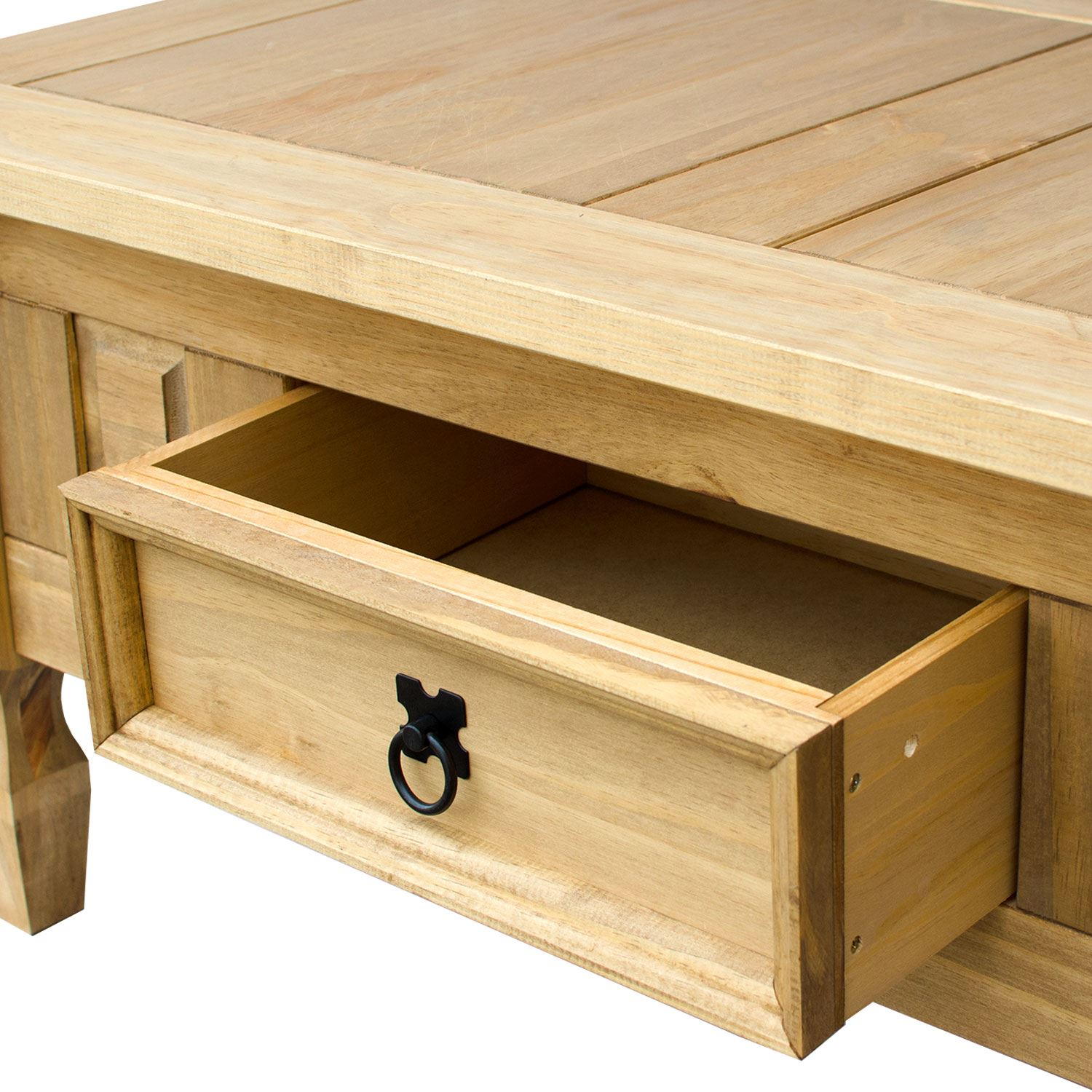 Corona Coffee Table With Drawer Console Table Mexican Pine