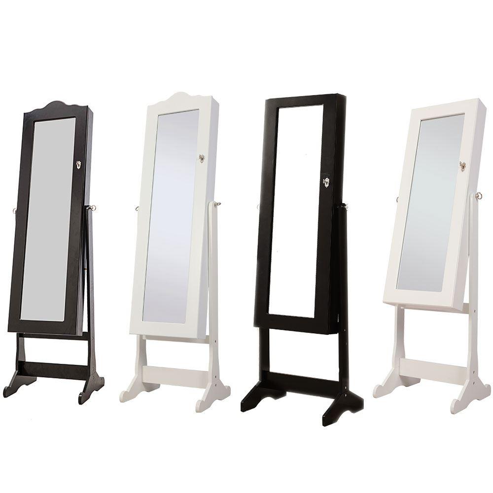 nishano jewellery cabinet mirror floor free standing bedroom storage