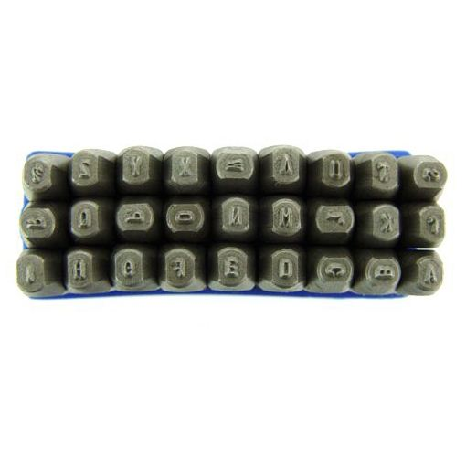 Mazbot 27 pc steel letter die stamp 2mm metal punch set ebay for Punch letters into metal
