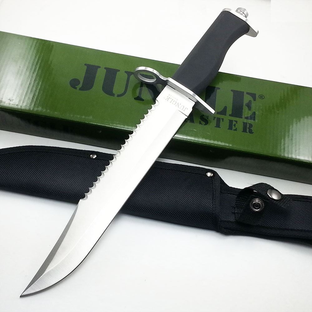 "15"" Jungle Master Survival Hunting Fixed Blade Knife BOWIE ..."