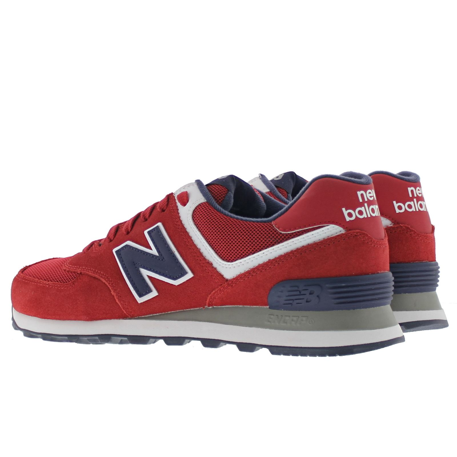 new balance classic ml574 leather mens trainers ebay. Black Bedroom Furniture Sets. Home Design Ideas