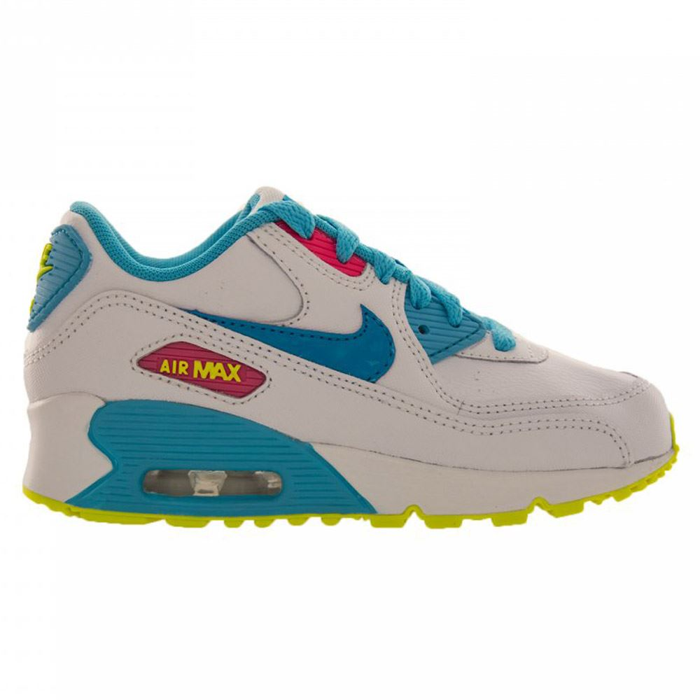 nike air max 90 2007 leather kids trainers ebay. Black Bedroom Furniture Sets. Home Design Ideas