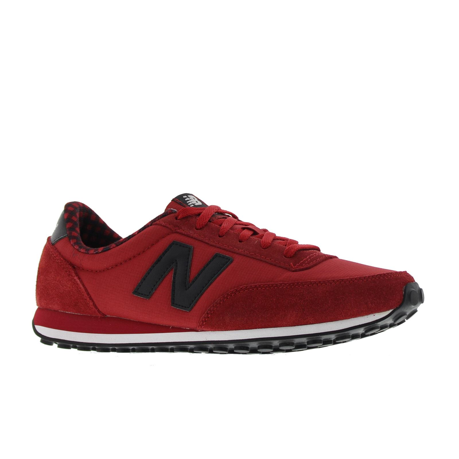 new balance 410 buffalo plaid classics traditionnels red black womens trainers. Black Bedroom Furniture Sets. Home Design Ideas