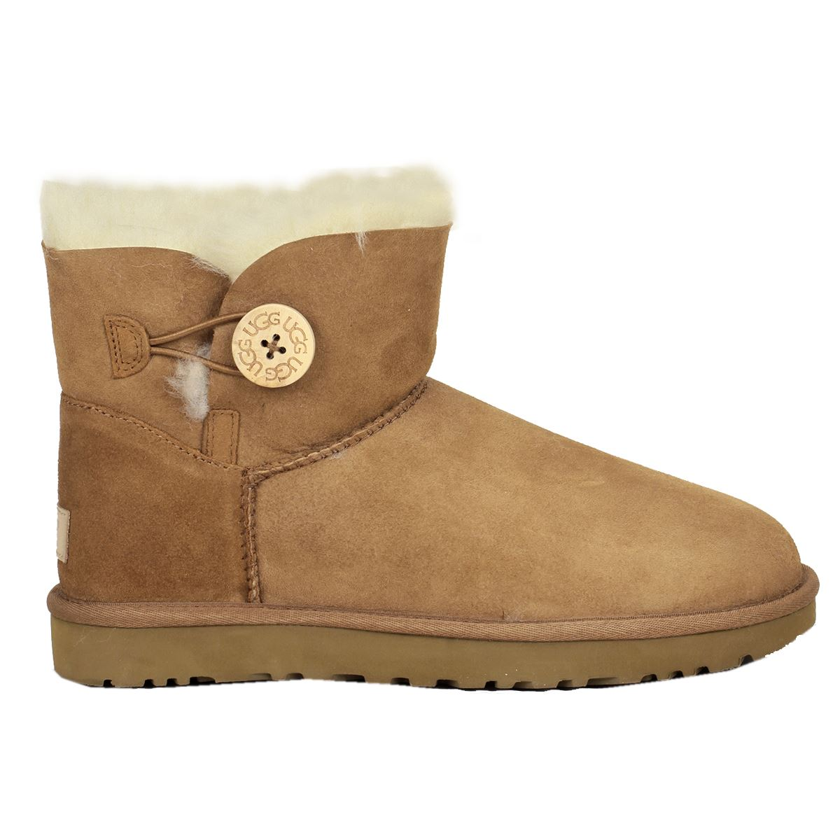ugg australia mini bailey button chestnut