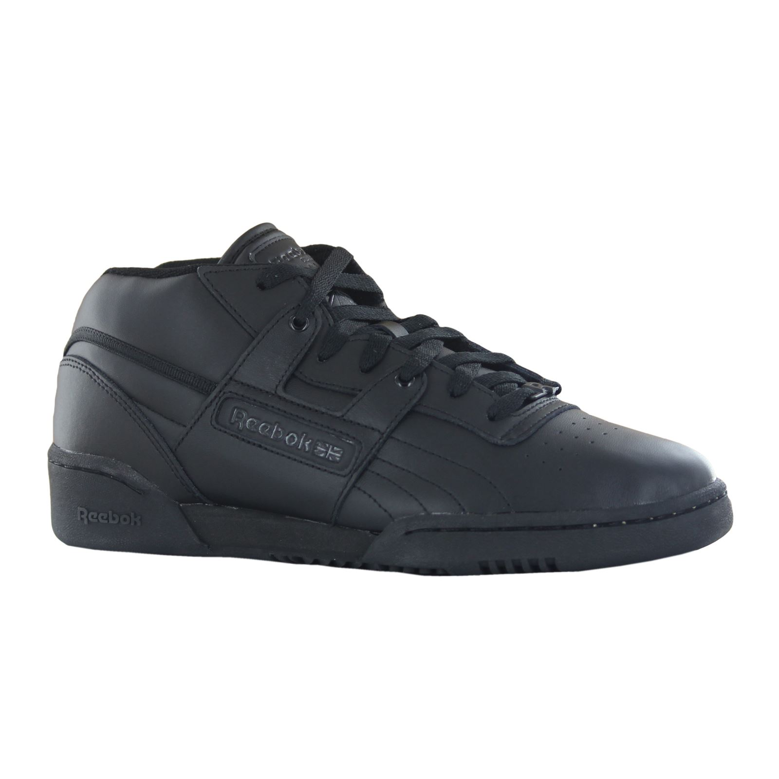 ... Image is loading Reebok-Workout-Mid-Black-Mens-Trainers-J92635 . ... c0f698aad