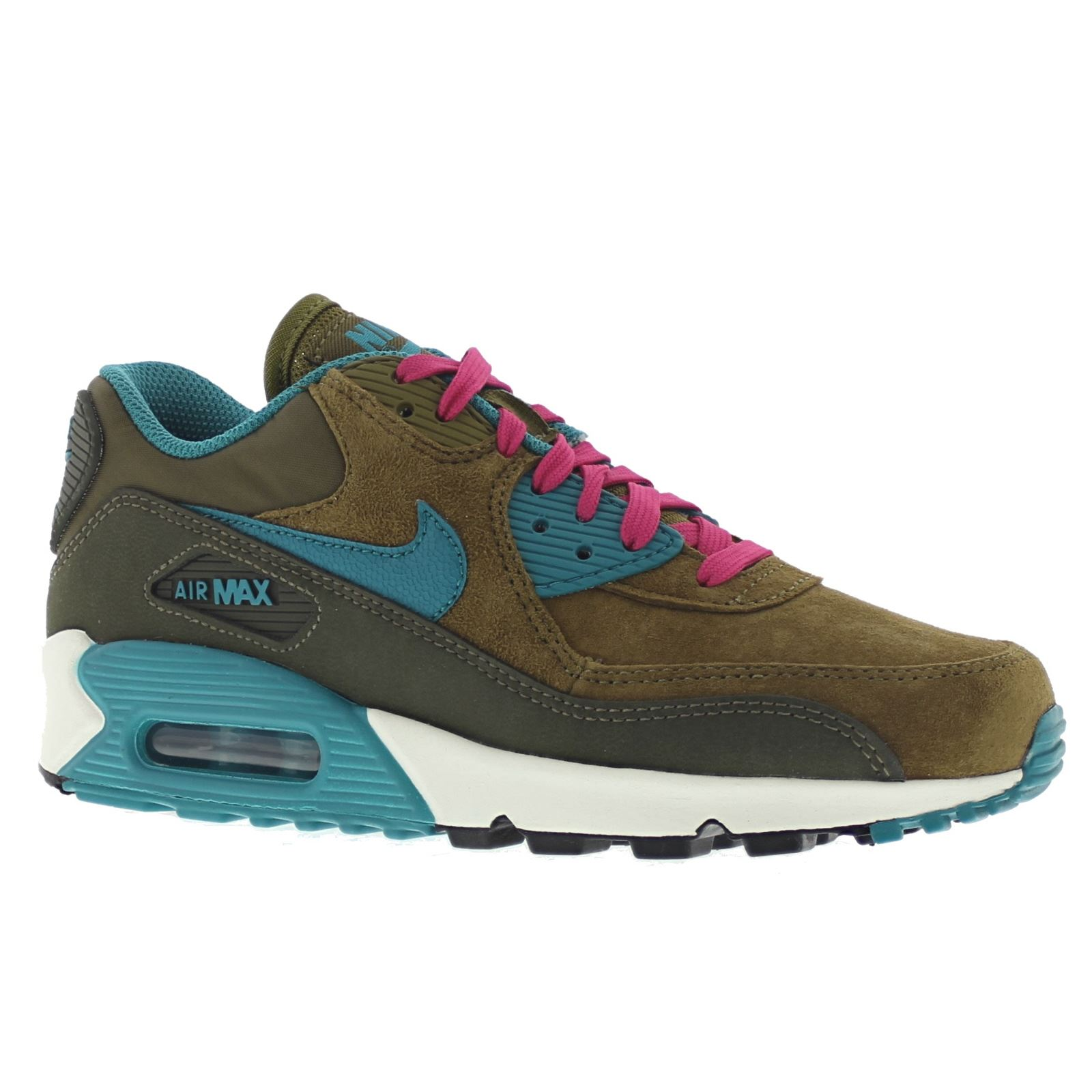 nike air max 90 leather olive womens trainers 768887 300. Black Bedroom Furniture Sets. Home Design Ideas