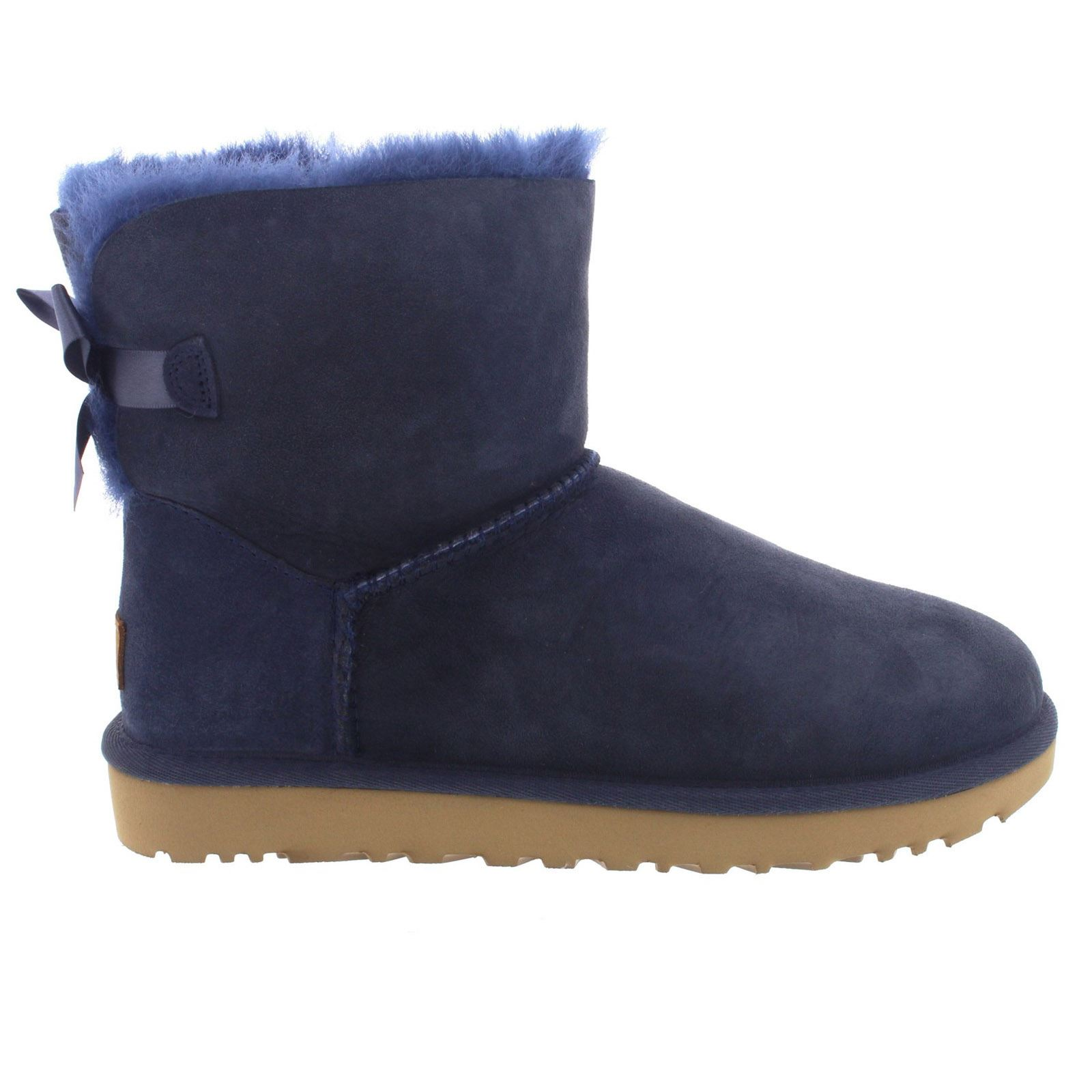 ugg australia mini bailey bow ii navy womens boots ebay