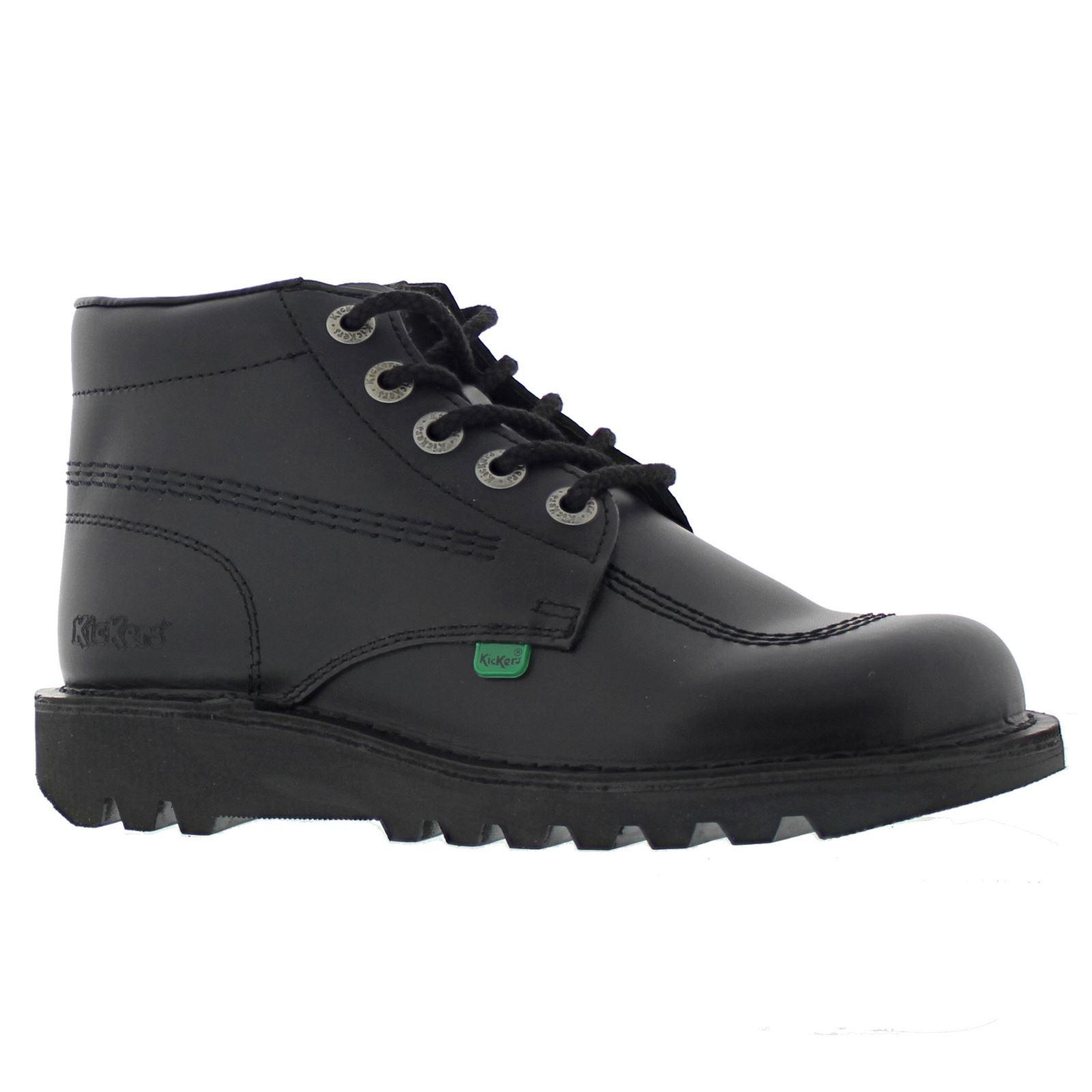 Kickers Kick Hi Core Black Womens Shoes | eBay