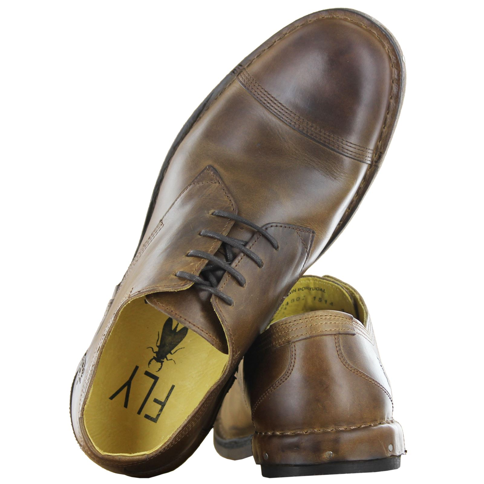 fly leather mens casual formal lace up shoes