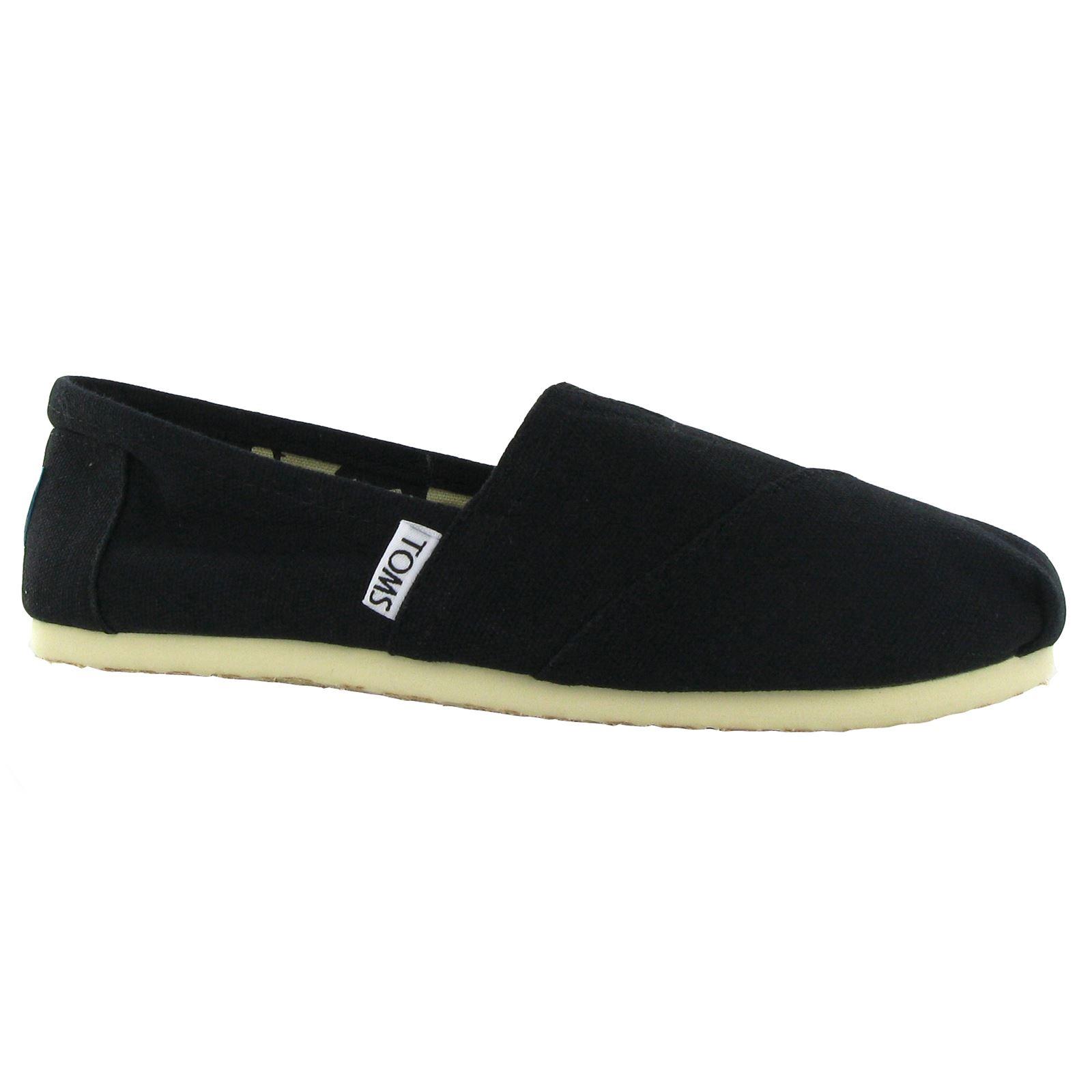 toms classic black canvas womens espadrilles shoes ebay