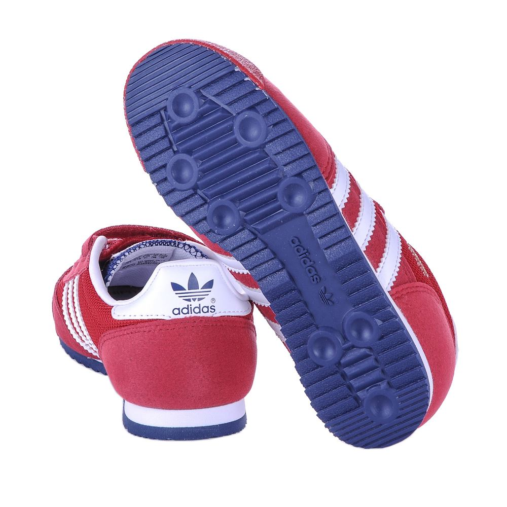 Adidas Dragon CF C Red White Kids Trainers
