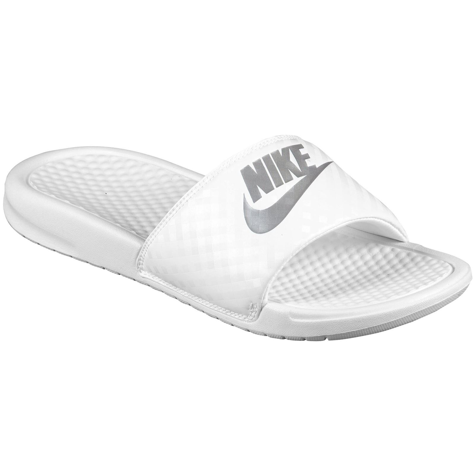 c2ca8e52c49b Nike Benassi Just Do It White White Womens Sandals - 343881-102 ...