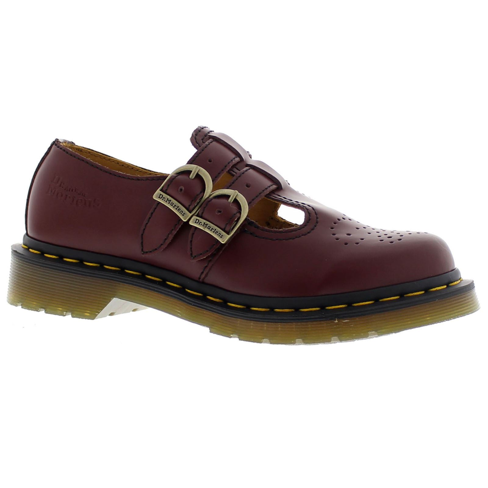 dr martens 8065 mary jane smooth cherry womens shoes ebay. Black Bedroom Furniture Sets. Home Design Ideas