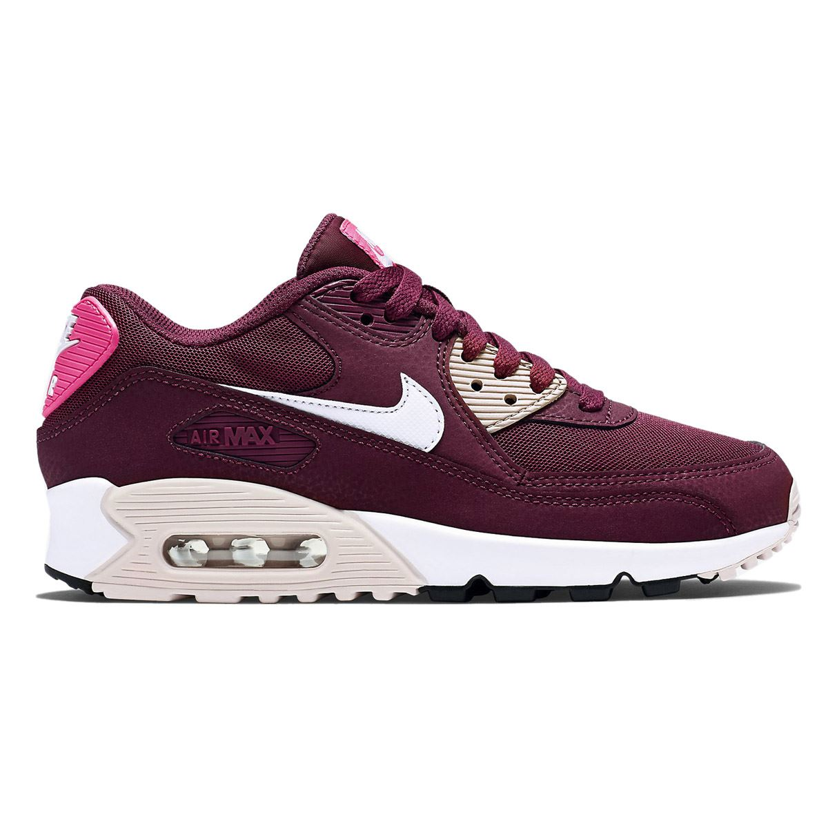 nike air max 90 essential maroon womens trainers 616730. Black Bedroom Furniture Sets. Home Design Ideas