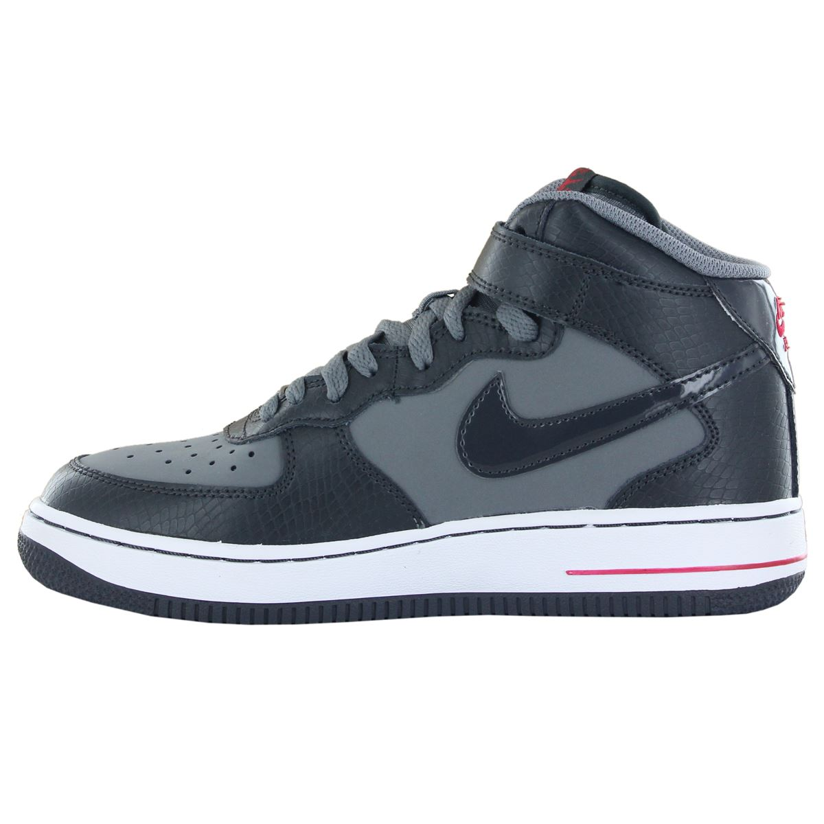 nike air force 1 mid leather kids trainers ebay. Black Bedroom Furniture Sets. Home Design Ideas
