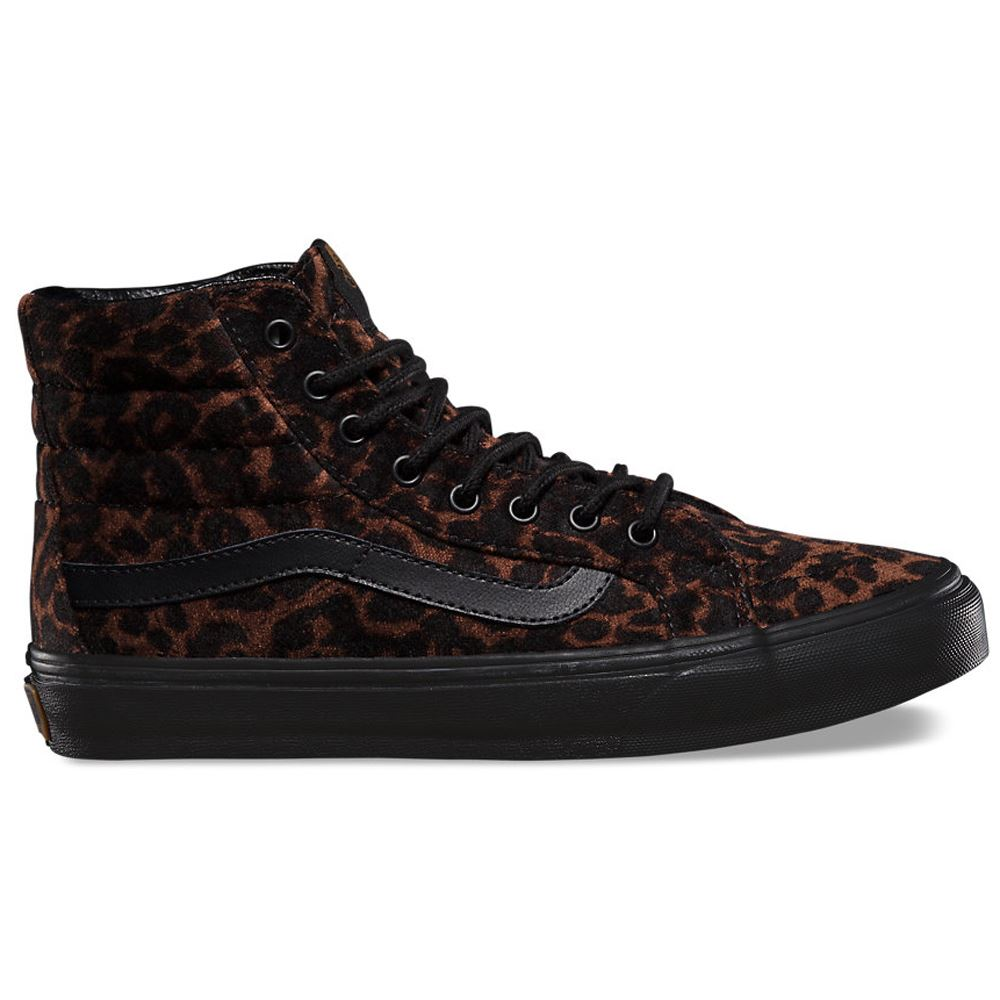 Image is loading Vans Classic SK8 Hi MTE Leopard Womens Trainers