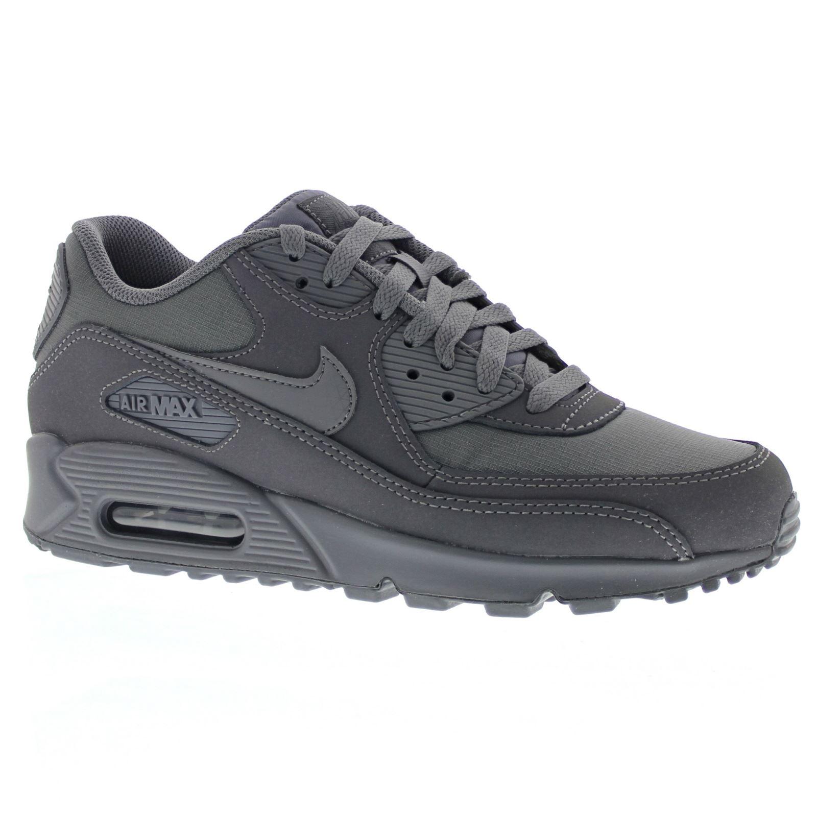 63de7232b956 ... Nike Air Max 90 Essential Dark Grey Mens Trainers - 537384-051 ...