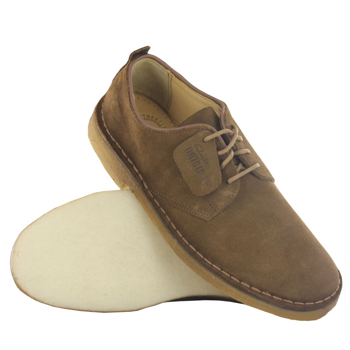 Clarks original classic desert London Daim Cuir Homme Chaussures a