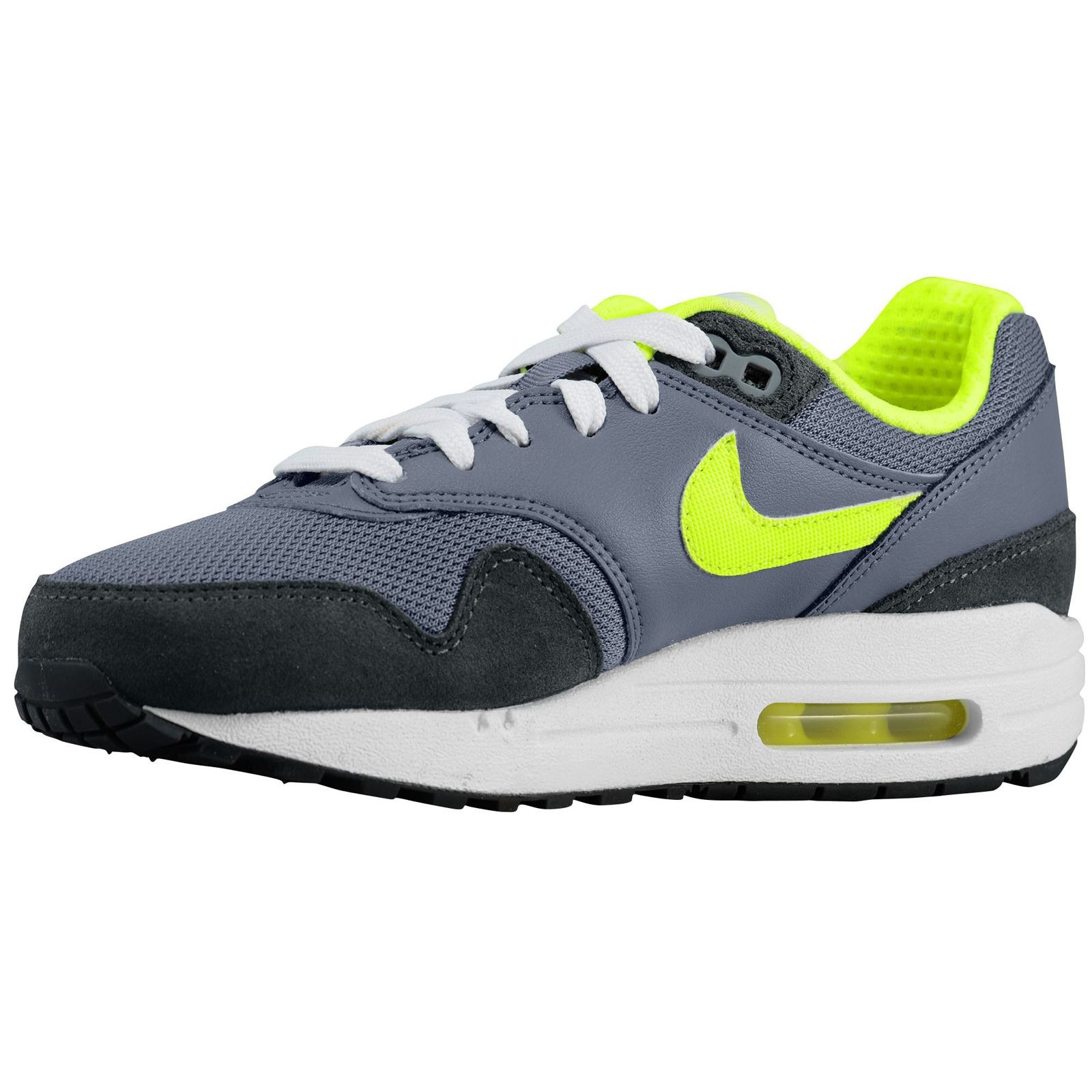nike air max 1 leather youth trainers ebay. Black Bedroom Furniture Sets. Home Design Ideas