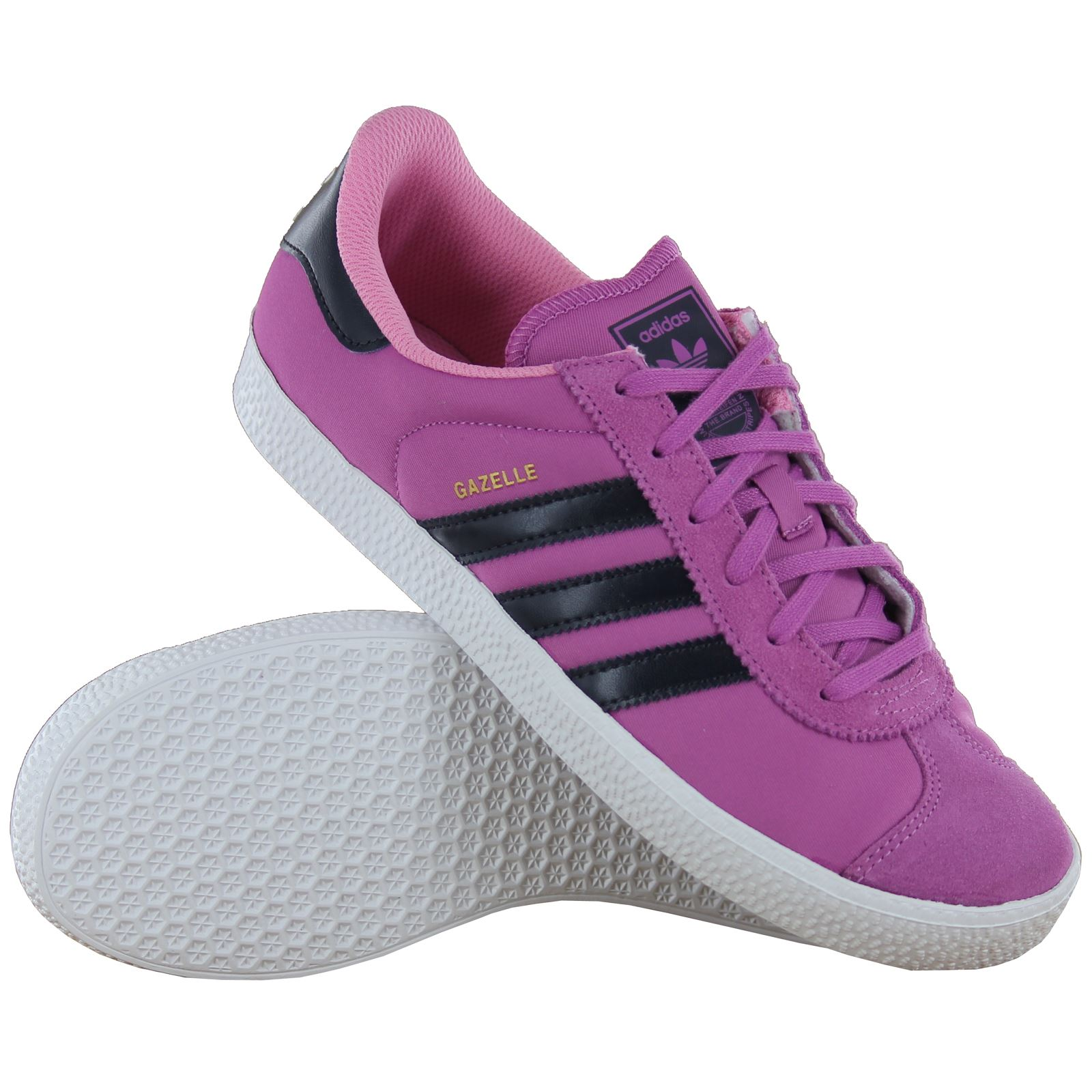 adidas gazelle 2 pink youths trainers d67212. Black Bedroom Furniture Sets. Home Design Ideas
