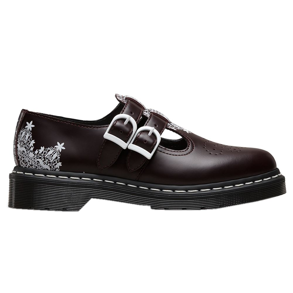 dr martens mary jane 8065 lace smooth oxblood womens shoes. Black Bedroom Furniture Sets. Home Design Ideas