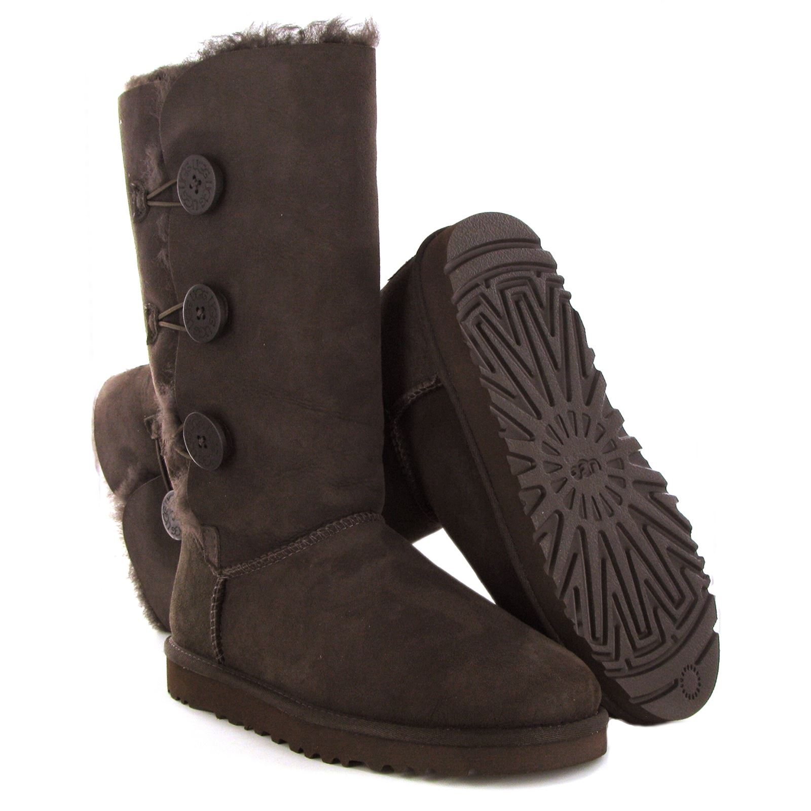 ugg australia bailey button sheepskin short boots
