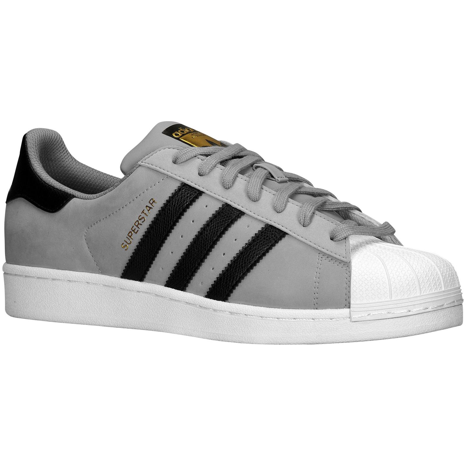 Adidas Superstar White And Black Mens
