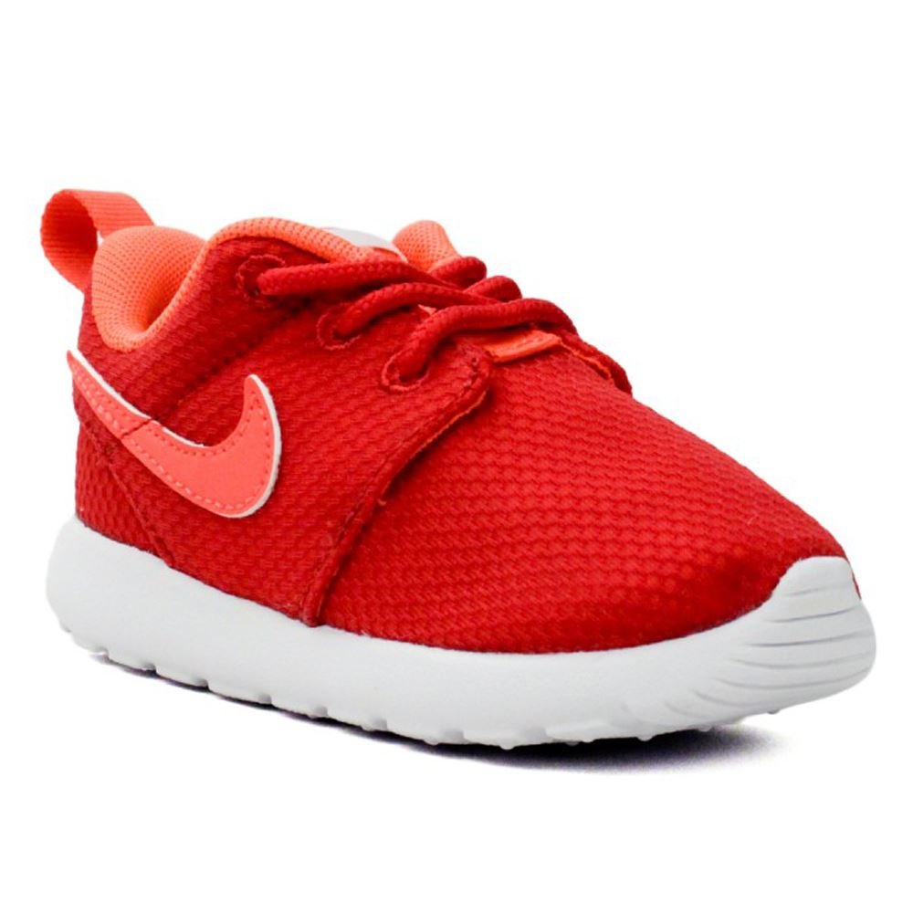 nike roshe run red white kids trainers 645778 602 ebay. Black Bedroom Furniture Sets. Home Design Ideas