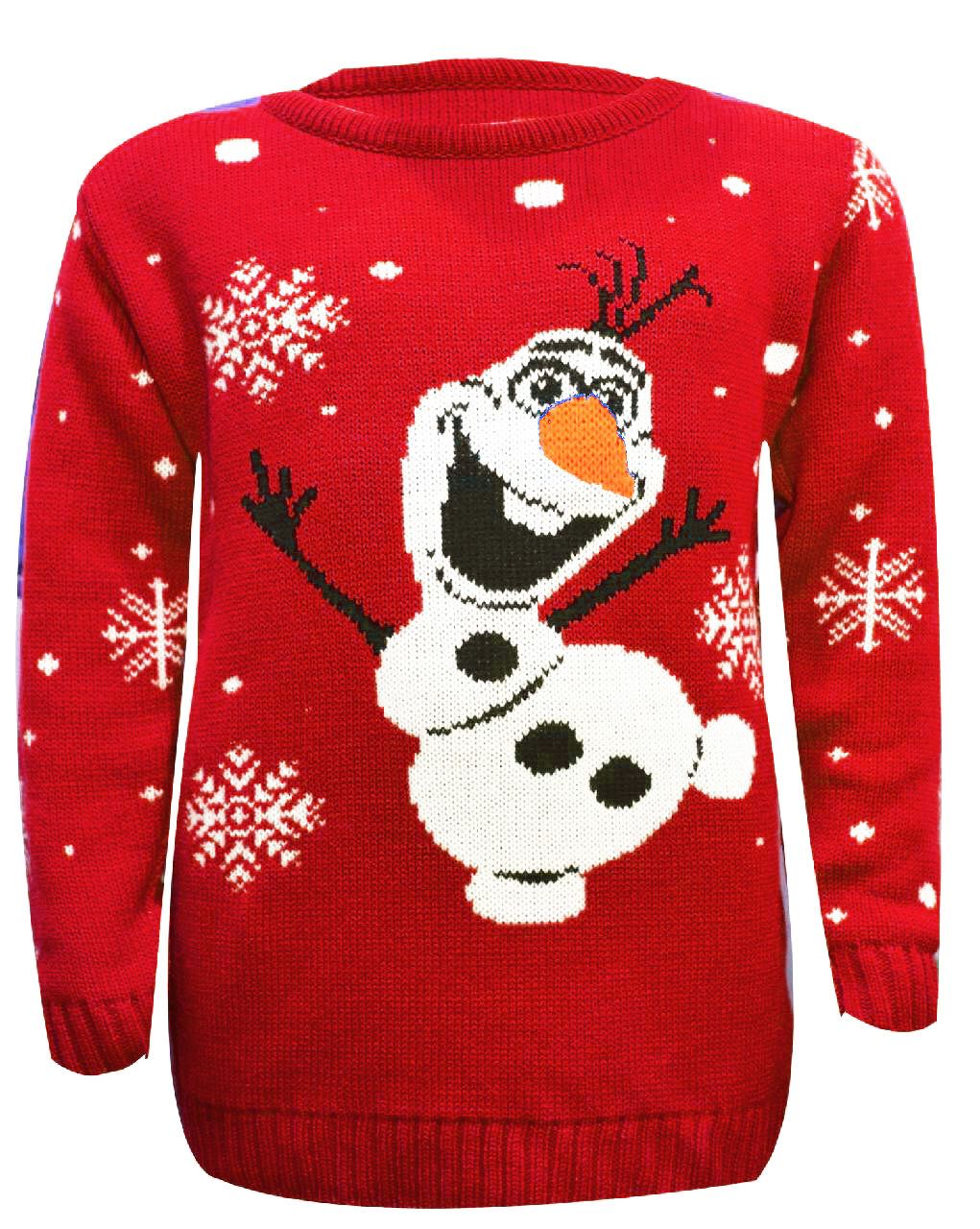 KIDS UNISEX REINDEER/OLAF FROZEN KNITTED WARM CHRISTMAS ...