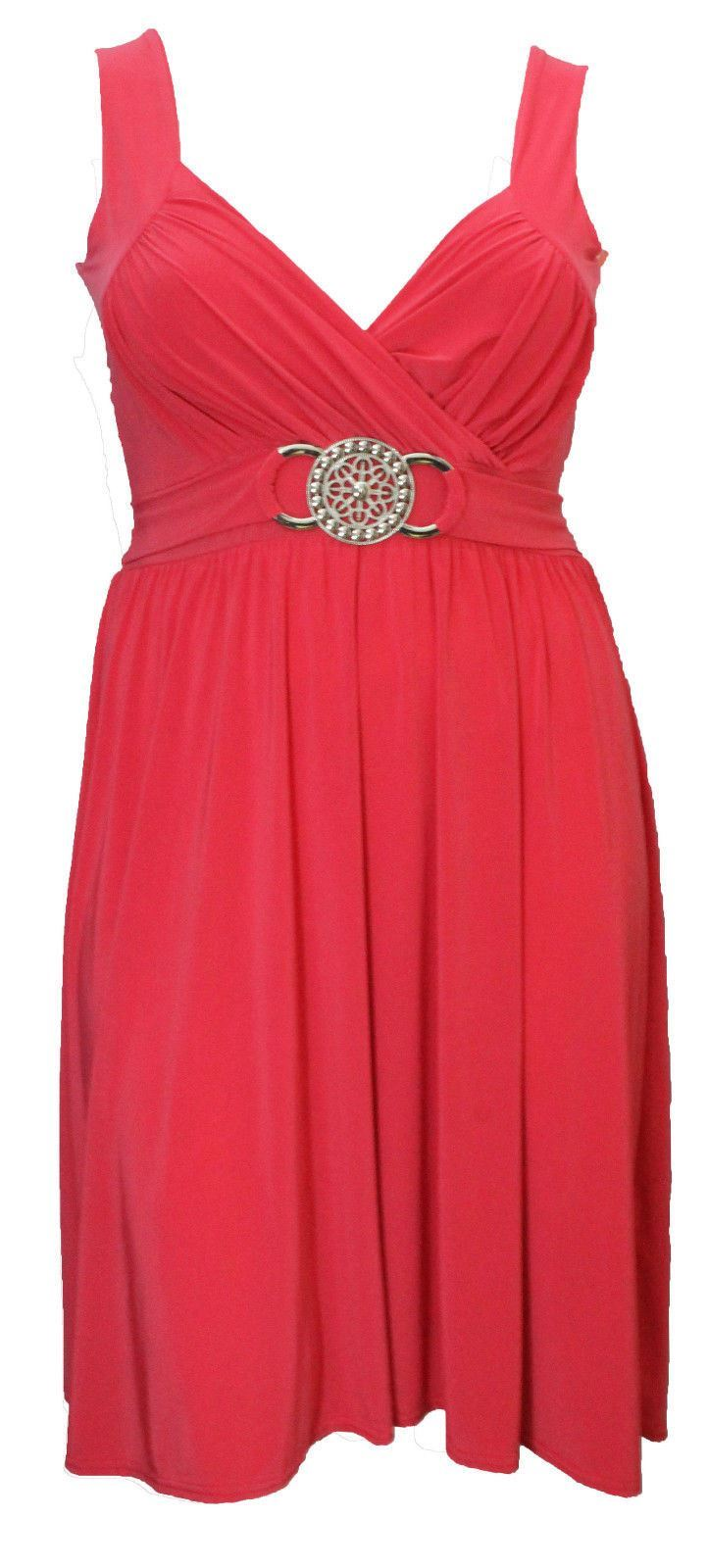 Excellent Details About WOMENS LADIES SLEEVELESS SHORT BUCKLE MAXI DRESS EVENING