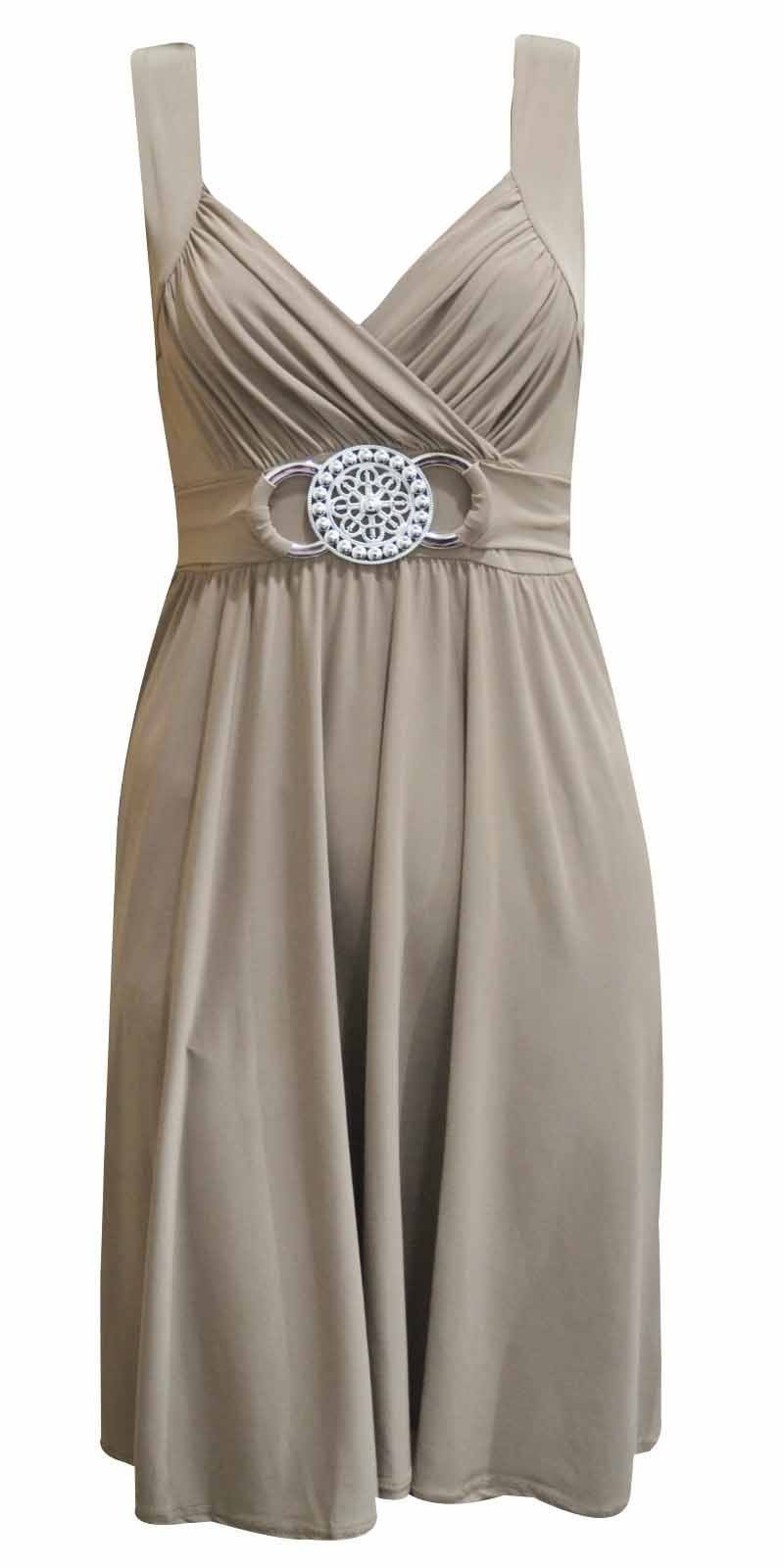 NEW-LADIES-PLUS-SIZE-EVENING-DRESS-BUCKLE-WOMENS-LONG-ELEGANT-COCKTAIL-16-26