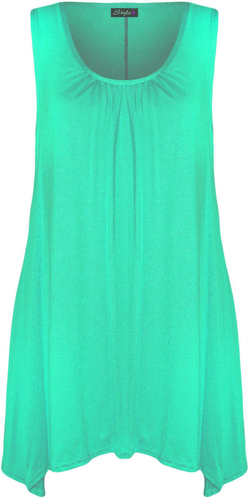New-Ladies-Plus-Size-Hanky-Hem-Womens-Long-Sleeveless-Scoop-Neck-Vest-Top-8-26