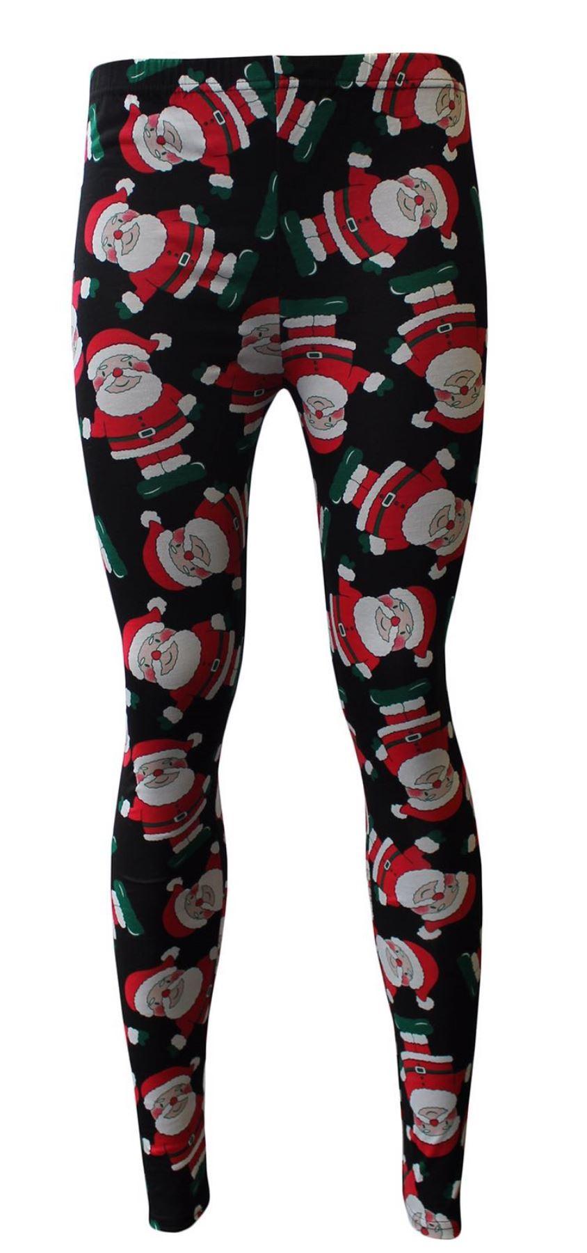 Latest Women LadieS Christmas Xmas Santa Printed Legging ...