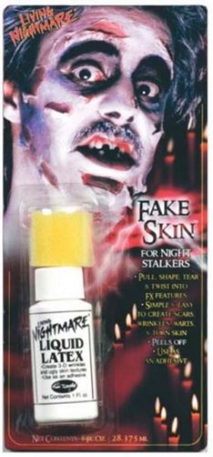Fancy dress fake latex skin peeling flesh fx zombie scars - Zombie scars with glue ...