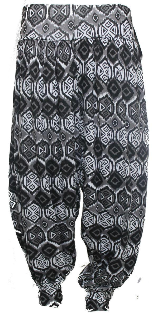 New Ladies Plus Size Printed Harem Pants Cuffed Bottom Ali Baba Womens Trousers