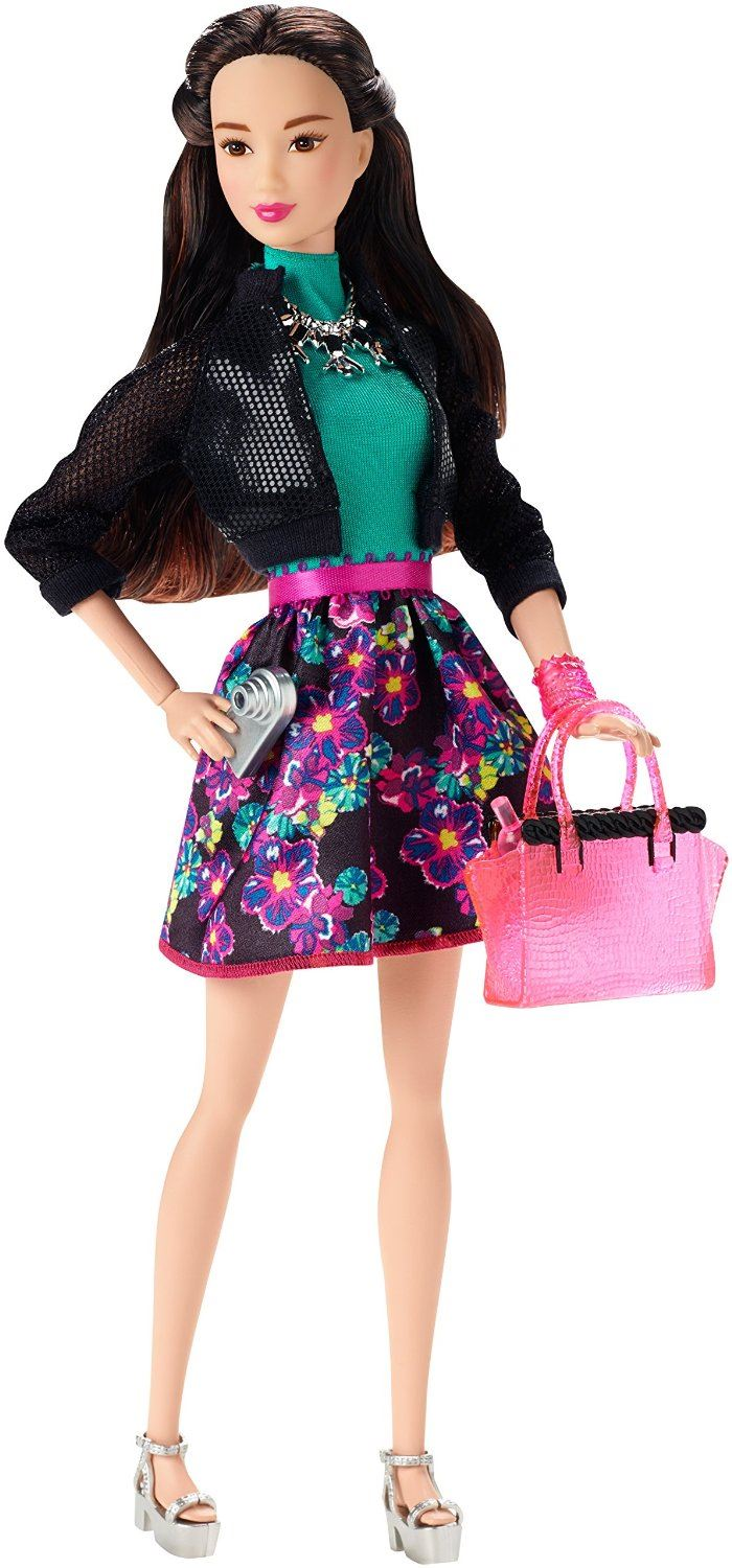 Black Hair Barbie Doll Glam Night Barbie Style Fashion