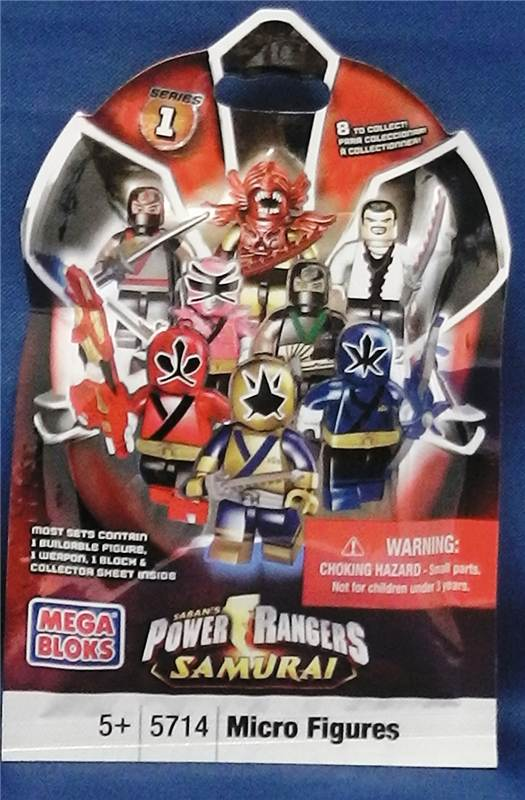 Power Rangers Samurai Mega Blocks Blind Mystery Bag Series 1 Lego