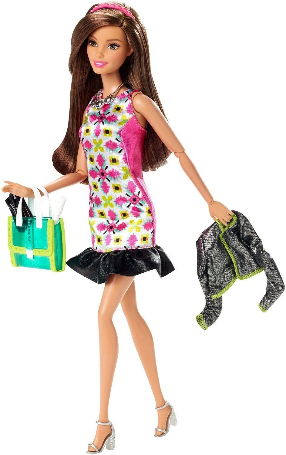 Brunette Hair Barbie Doll Glam Night Barbie Style