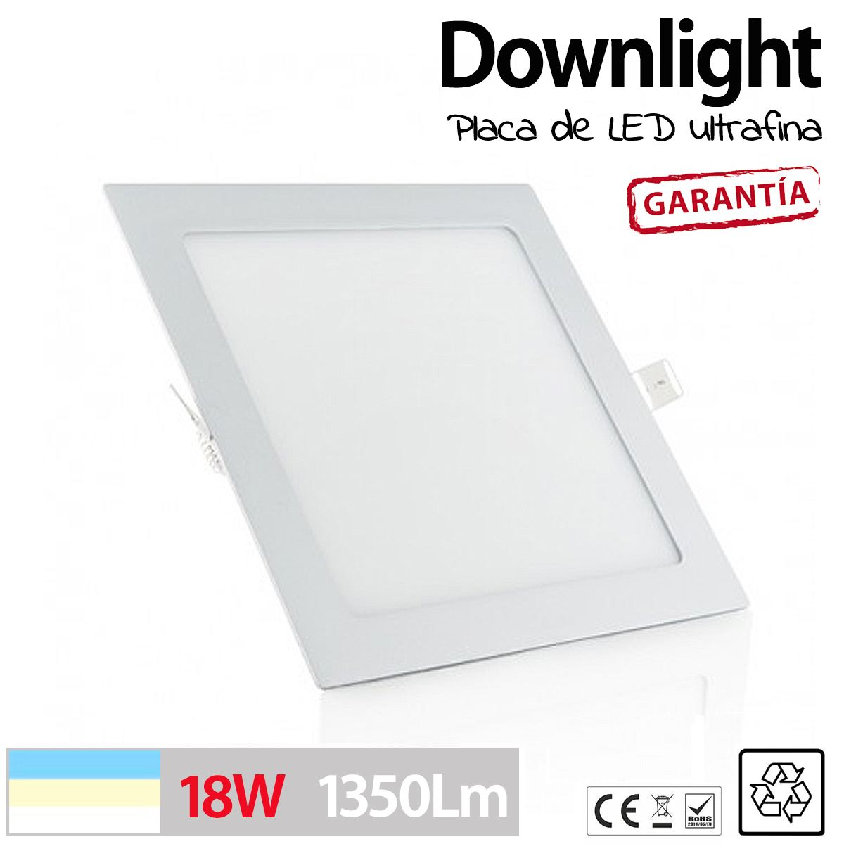 Downlight cuadrado 18w ultra fino placa led luz cocina - Downlight cocina led ...