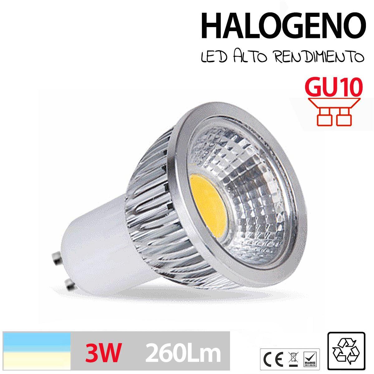 Halogeno led gu10 bombilla lampara foco 3w 5w 7w maximo - Foco halogeno led ...
