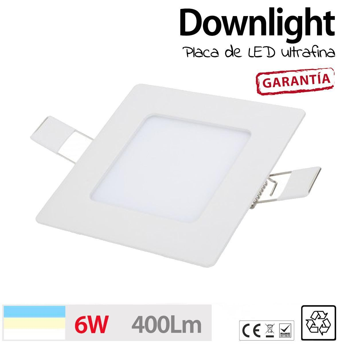Downlight cuadrado 6w ultrafino placa led luz cocina - Downlight cocina led ...