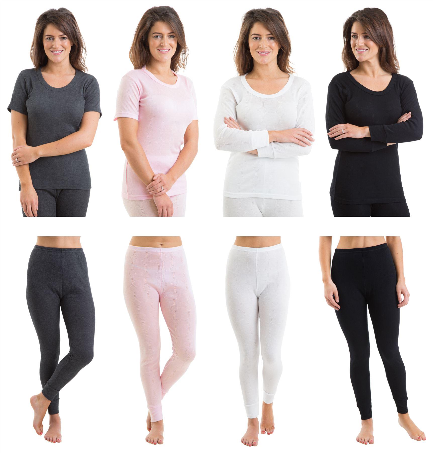 2COZEE Set Of 2 Womens Thermal Underwear Long Sleeve Vest & Pants