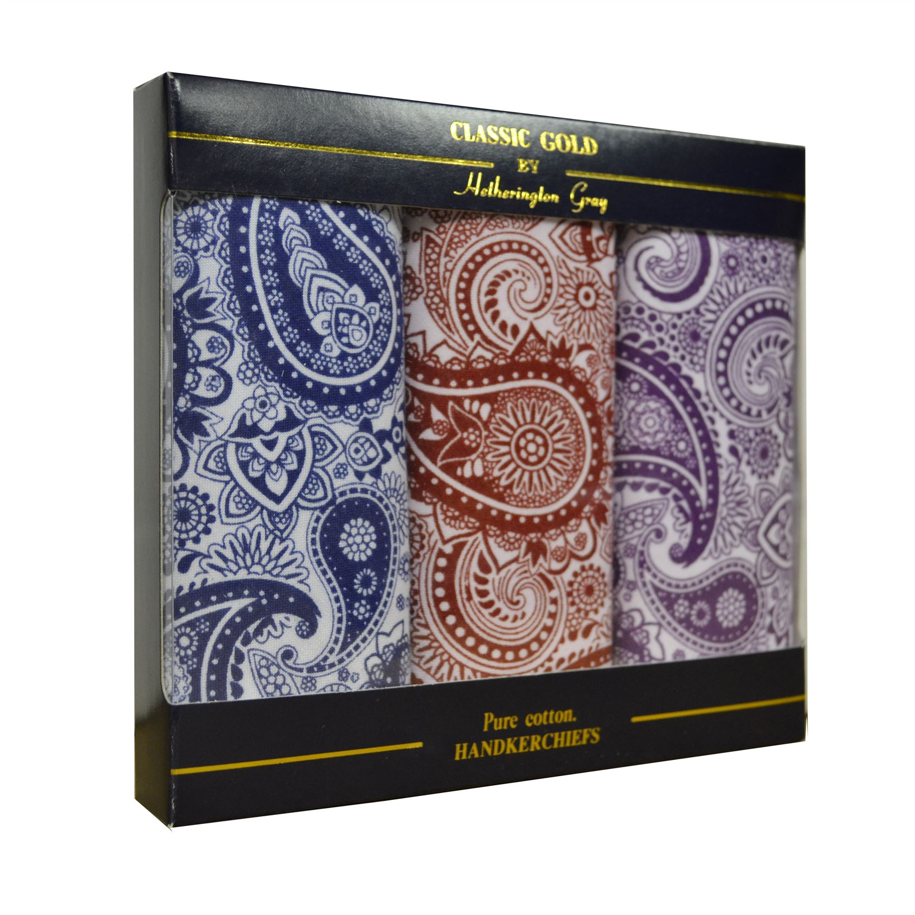 Multipack Mens 100 Cotton Handkerchiefs Embroidered