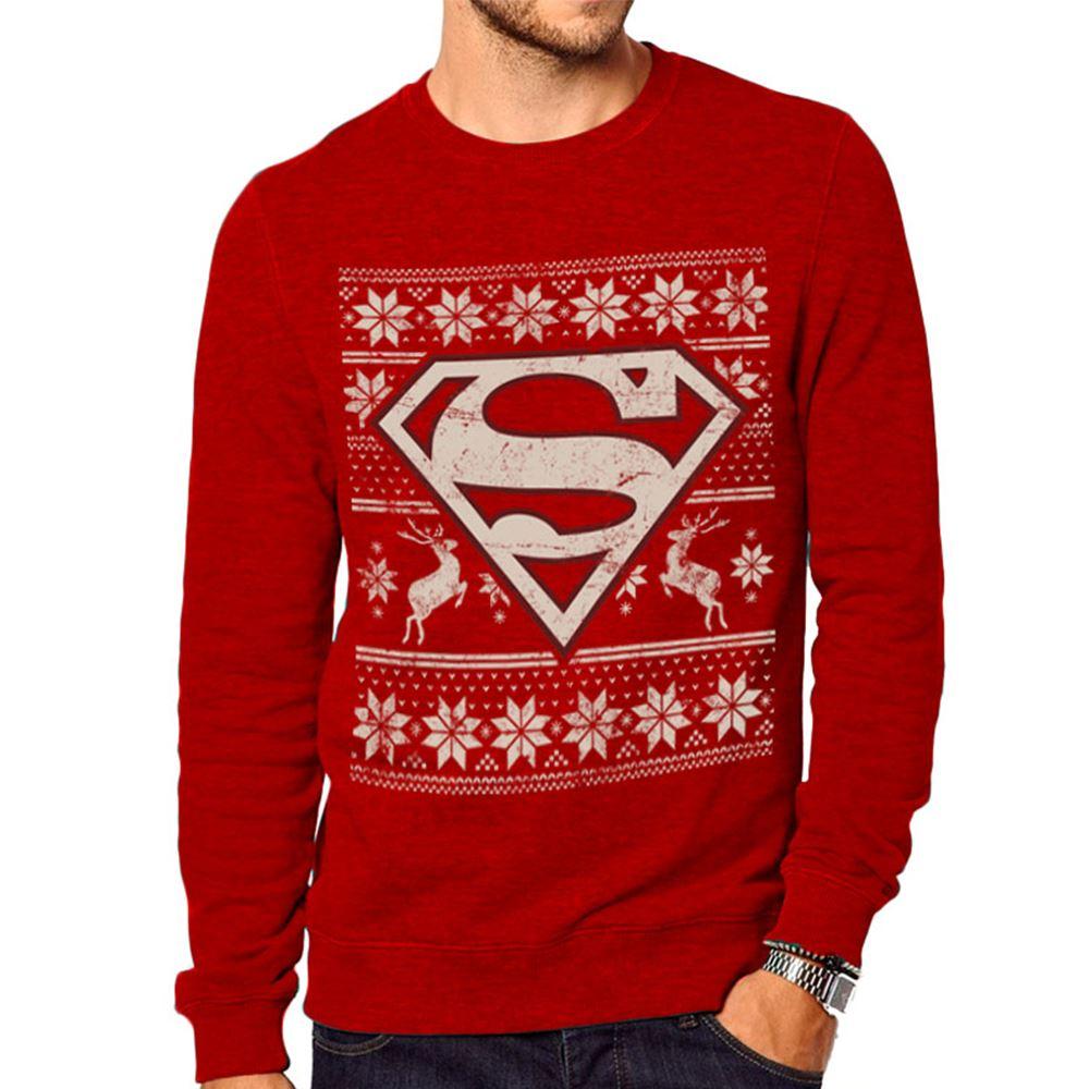 Superman Fair Isle Sweatshirt S