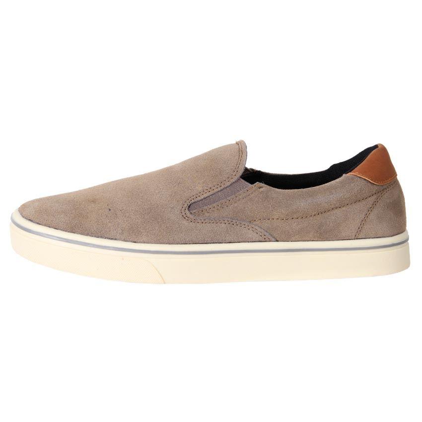 airwalk s comfort leather suede casual slip on shoe